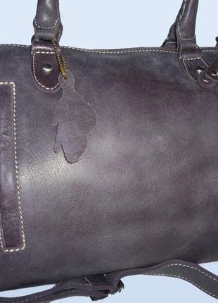 Шикарная вместительная сумка натуральная кожа roots канада