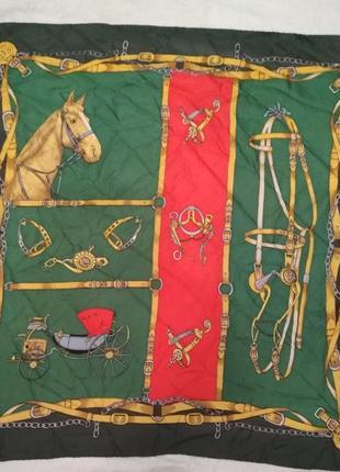 Шелковый платок от gucci винтаж 70-х годов