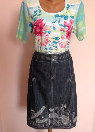 Необычная джинсовая юбка. /xxl/ brend didi