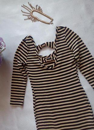 Платье в полоску3