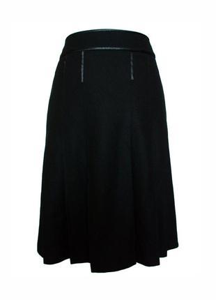 Классическая шерстяная юбка в складку