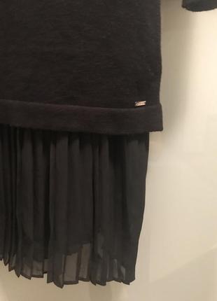99888f7bdf9 ... Черное платье свитер с плиссированной вставкой   mohito4 фото ...