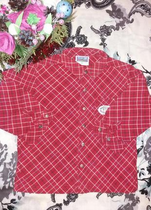 Яркая рубашка на рост 92