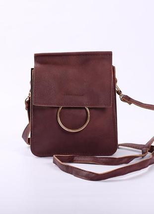 Красивая необычная сумочка бордовая