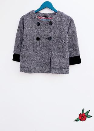Шикарный пиджак накидка полупальтишко в стиле coco chanel