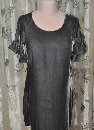Вечернее короткое бархатное велюровое праздничное платье 12-14 размер накидка в подарок