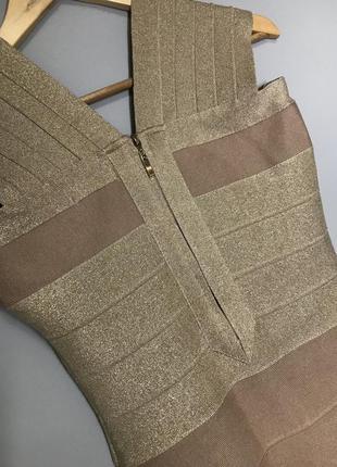 Нарядное платье шикарное бандажное платье s-m
