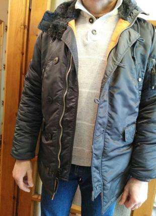 Мужская куртка парка аляска оригинал сша alpha industries разм.l