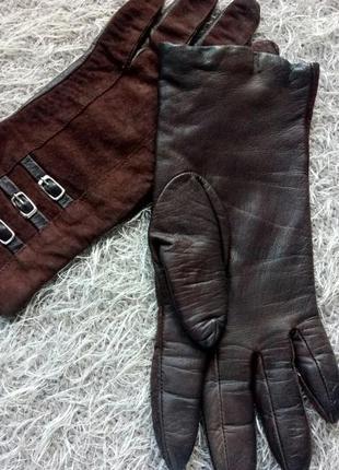 Женские кожаные замшевые перчатки