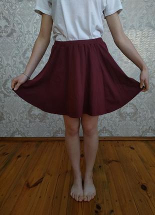 New look юбка клёш    расклешенная   миди   мини