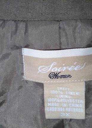 Легкий  пиджак с вышивкой 100% лен5 фото