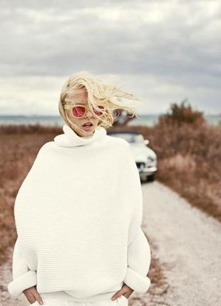 Noisy may мега стильный свитер оверсайз молочного цвета