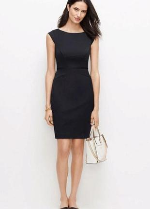 Чёрное классическое деловое офисное платье карандаш футляр миди