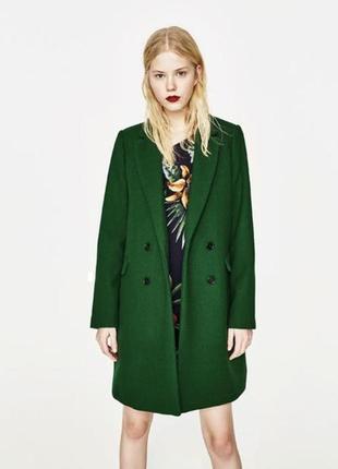 Нереально крутое шерстяное пальто zara