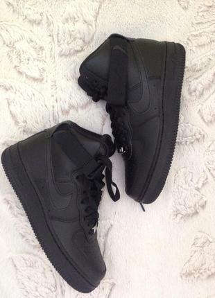 Кроссовки nike air force 1 high кожаный черный