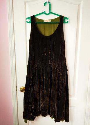 Велюровое платье бархатное платье с переливом платье для беременных