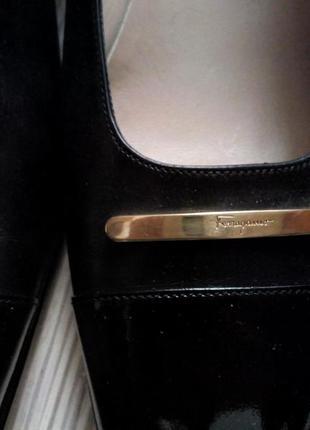Новые классические туфли salvatore ferragamo, оригинал, р. 37-37,5