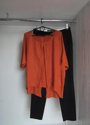 Блуза футболка интересного кроя от massimo dutti р. m/l