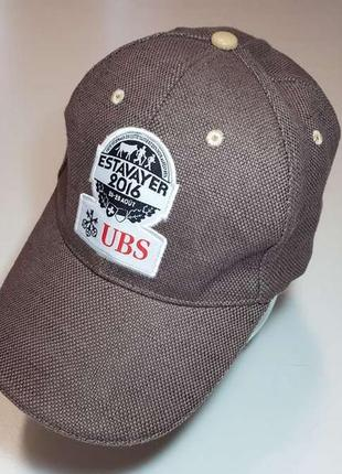 Кепка ubs swiss, с кожей, размер регул. новая!
