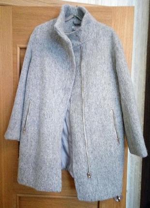 Пальто оверсайз (шерсть) новое от нm,в фирменной коробке