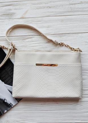 Белая сумка сумочка клатч