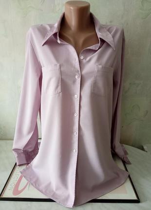 Стильная рубашка сиреневого цвета. размер евро 40-42  бренд marks&spenser