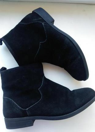 Замшевые ботинки 40р