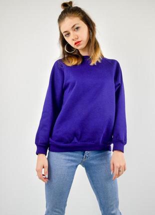 Фиолетовый однотонный свитшот, свободная кофта, реглан, худи, світшот