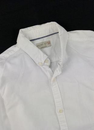 Красивая белоснежная рубашка zara boys размер 13/14 лет