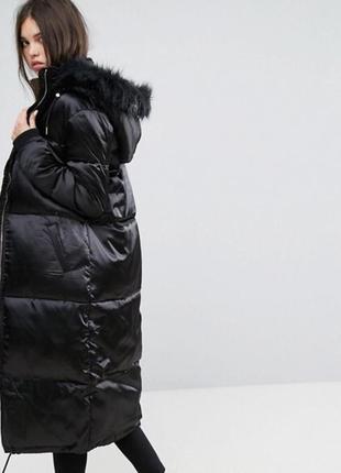 Дутая куртка  пуховик пальто asos missguided