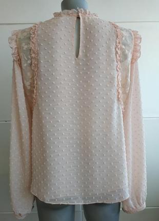 Изумительная блуза zara с вышивкой плюмети и рюшами3