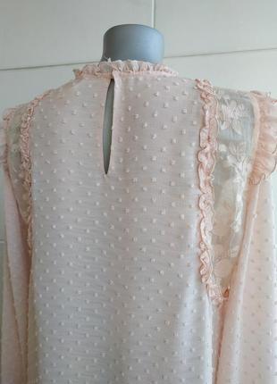 Изумительная блуза zara с вышивкой плюмети и рюшами4