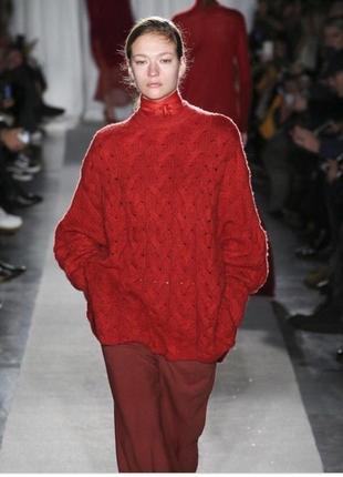 Оригинал винтажный красный бордовый свитер valentino оверсайз
