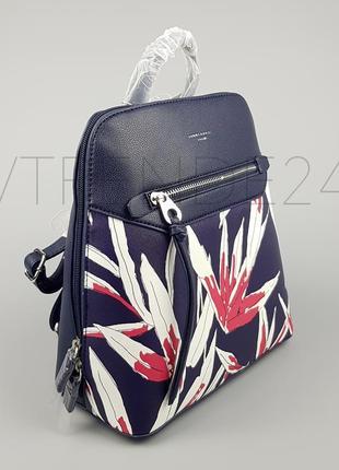 Бесплатная доставка нп #5938-2 blue david jones женский яркий каркасный рюкзак