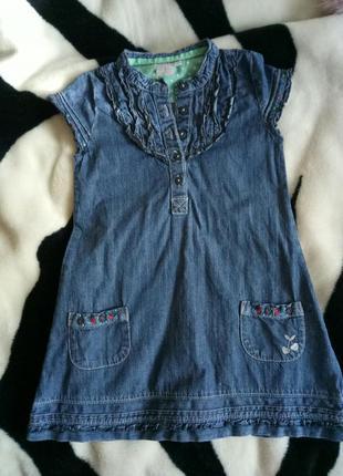 Джинсовое платье на девочку, джинсовый сарафан на 3-4 года1