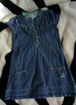 Джинсовое платье на девочку, джинсовый сарафан на 3-4 года2