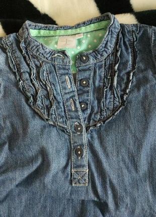 Джинсовое платье на девочку, джинсовый сарафан на 3-4 года3
