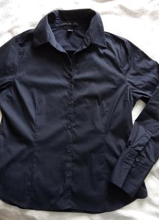 Стильная рубашка темно- синего цвета. размер us16, укр.50 бренд н&м
