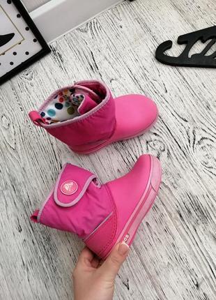 Сапоги ботинки дутики кроксы crocs c9 для девочки