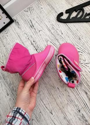 Сапоги ботинки дутики кроксы crocs c9 для девочки5