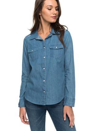 Распродажа! шикарная джинсовая рубашка от h&m! качество бомба!