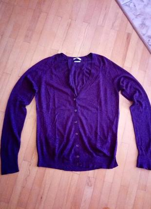 Дешево базовий тоненький светр натуральний шовк benetton 40p.