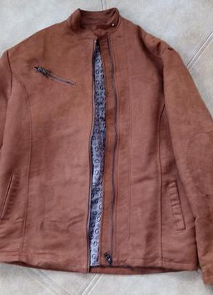 Куртка чоловіча кожзам на весну xxl
