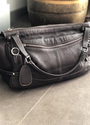 Кожаная сумка 100%натуральная кожа италия furla