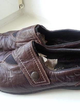 Кожаные туфли мокасины rieker 38р. (24.7 см.)