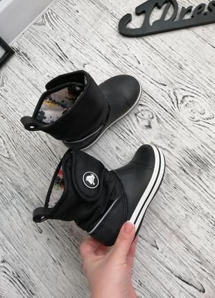 Сапоги ботинки дутики кроксы crocs c10 для девочки и мальчика
