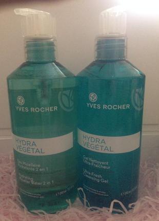 Акция! вместе дешевле! мицелярная вода+ гель для умывания . мега объём. yves rocher