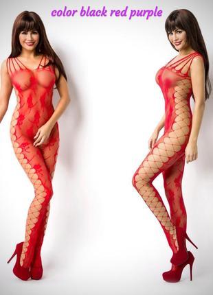 Эротический сексуальный комбинезон боди сетка sexy белье бодистокинг body stockingс - 24