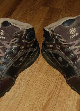Кожаные ботинки на меху 44 р dockers