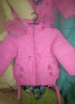 Классная курточка для маленькой модницы.